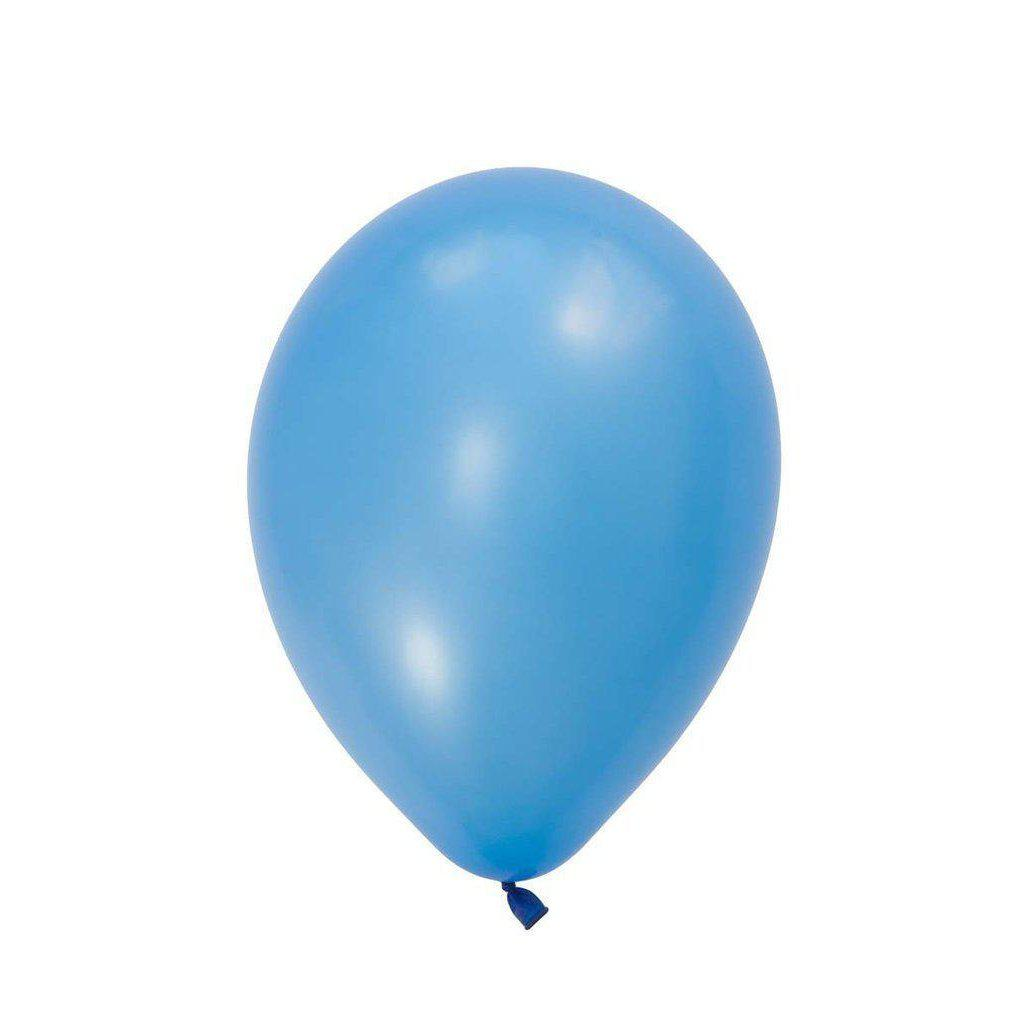 28cm Balloon Neon Blue, Inflated-Palm & Pine