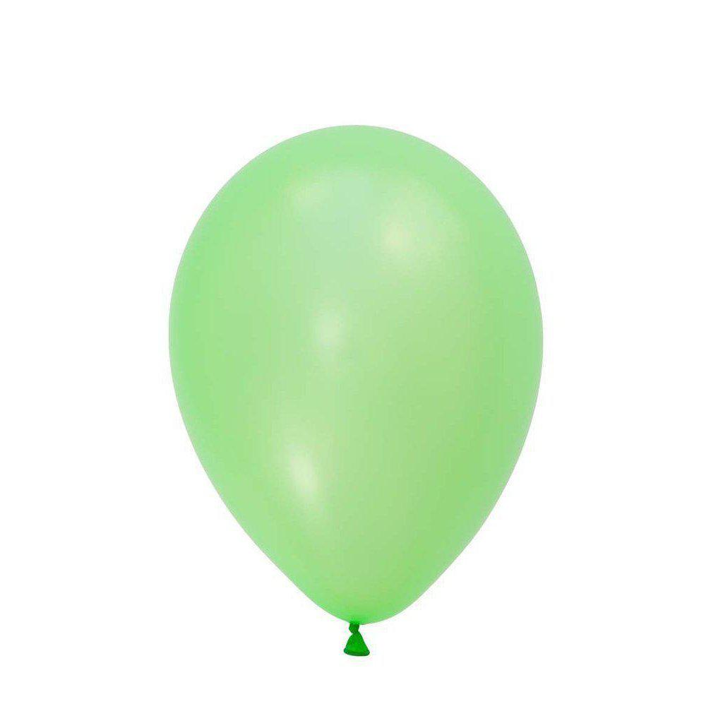 28cm Balloon Neon Green, Inflated-Palm & Pine