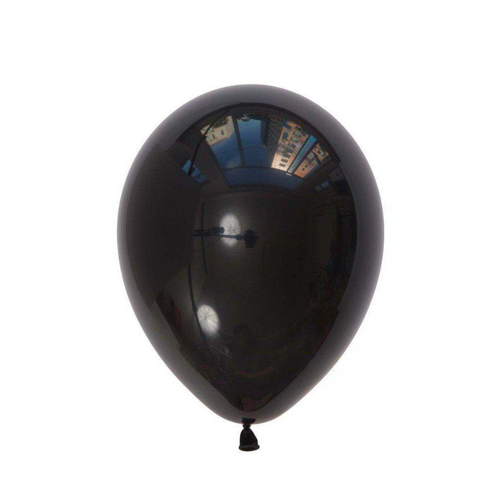 28cm Balloon Onyx Black, Inflated-Palm & Pine