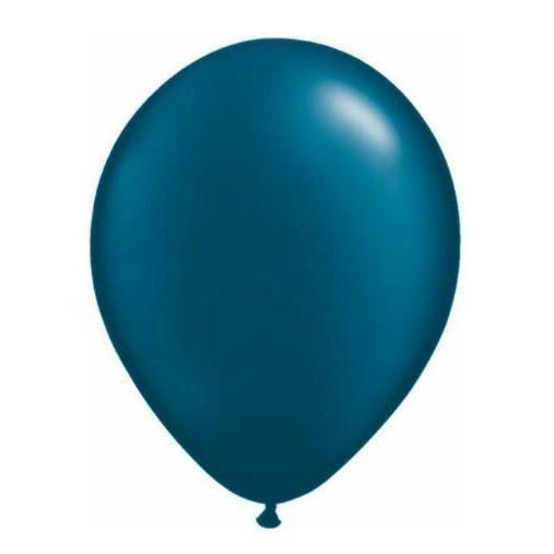 28cm Balloon Pearl Midnight Blue, Inflated-Palm & Pine