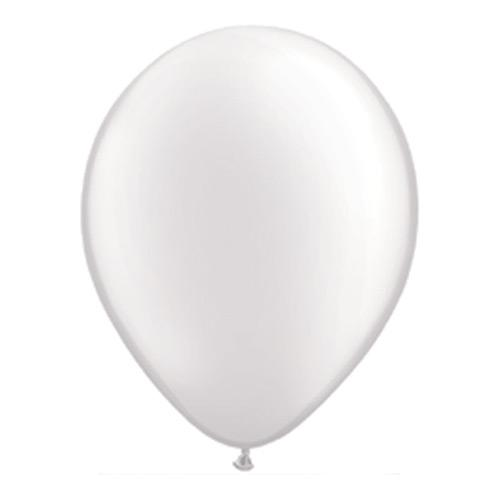 28cm Balloon Pearl White, Inflated-Palm & Pine Party Co.