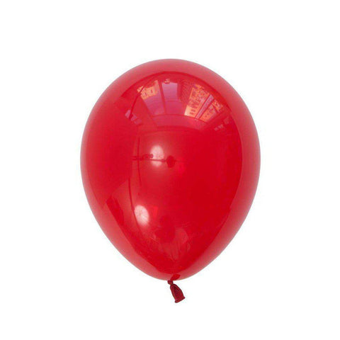 28cm Balloon Ruby Red, Inflated-Palm & Pine Party Co.