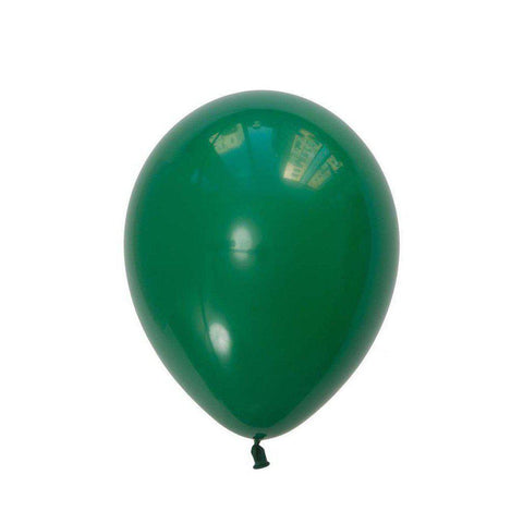 28cm Balloon Standard Green, Inflated-Palm & Pine