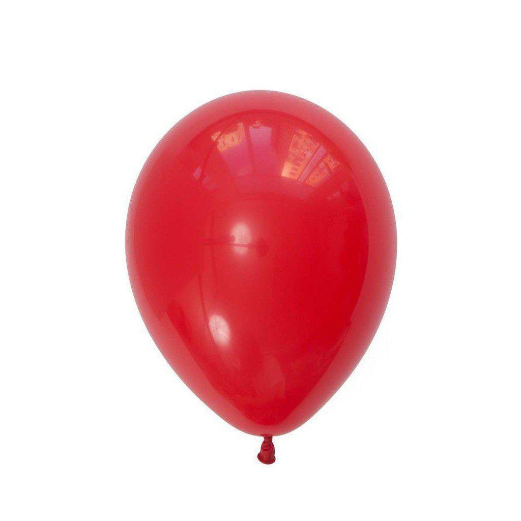 Balloon Standard Red, Inflated-Palm & Pine