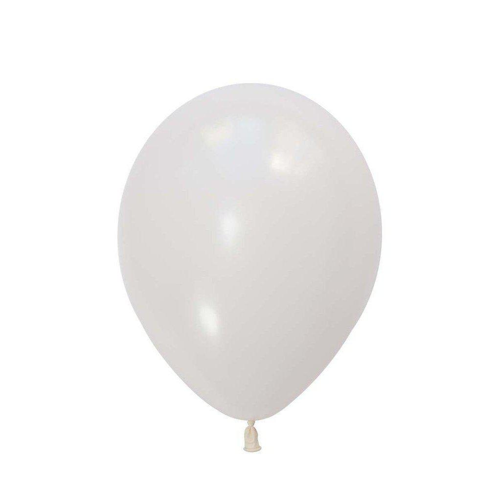28cm Balloon Standard White, Inflated-Palm & Pine