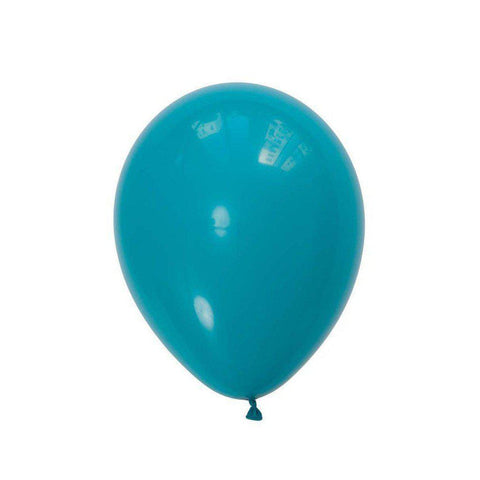 28cm Balloon Tropical Teal, Inflated-Palm & Pine