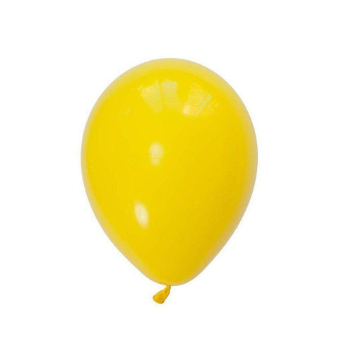 28cm Balloon Yellow, Inflated-Palm & Pine