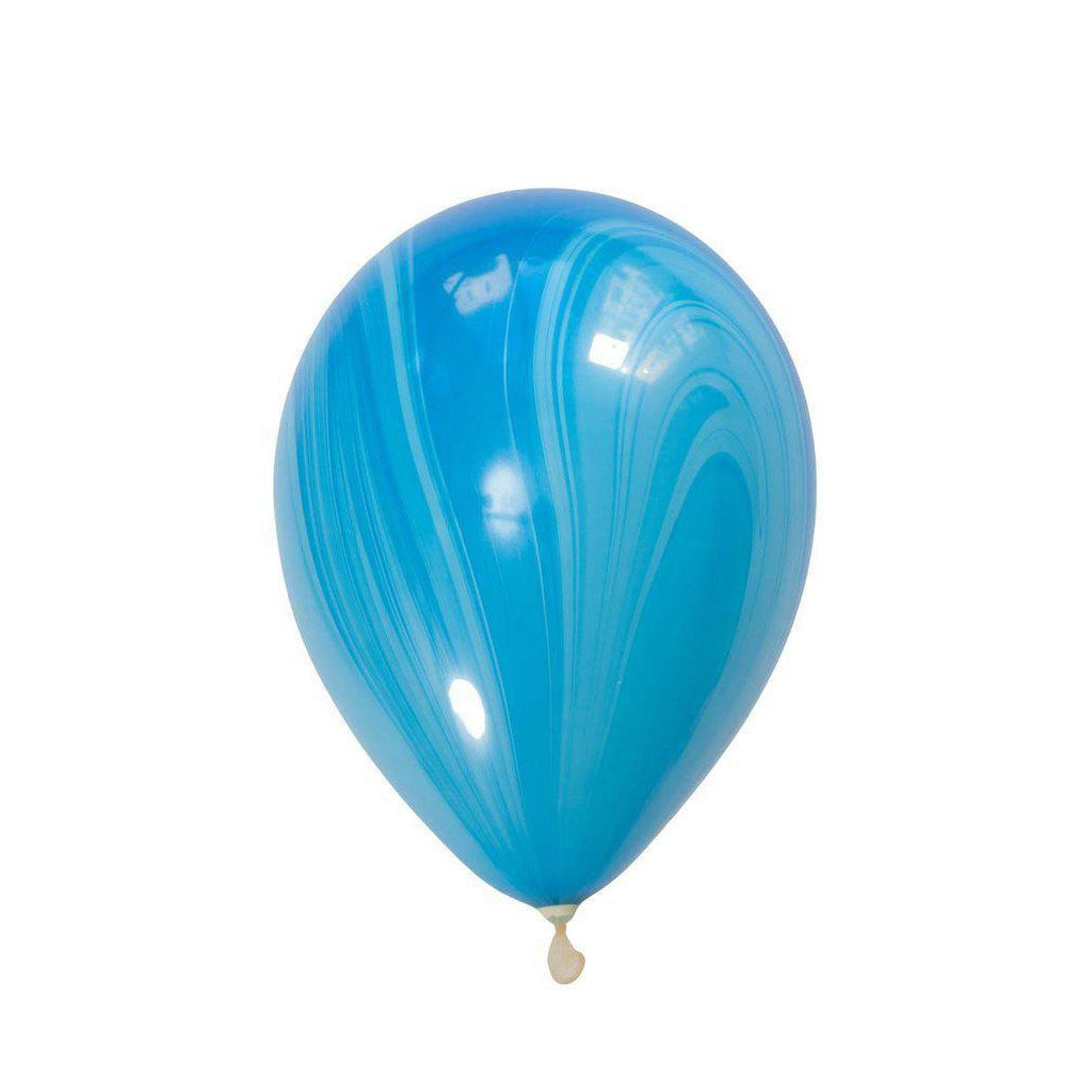 28cm Marble Balloon Blue-Palm & Pine Party Co.
