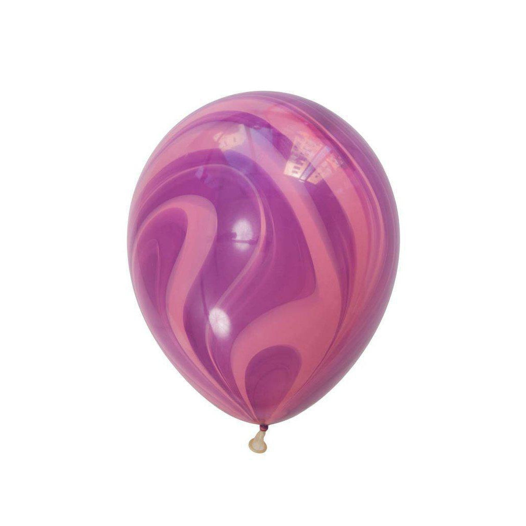 28cm Marble Balloon Pink/Violet-Palm & Pine Party Co.