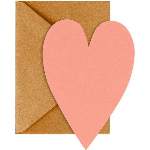 Coral Heart Cards-Palm & Pine