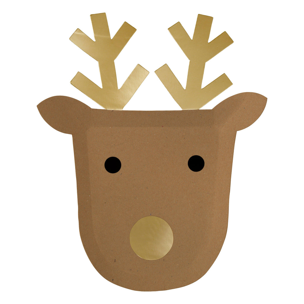 Reindeer Shaped Plates-Palm & Pine