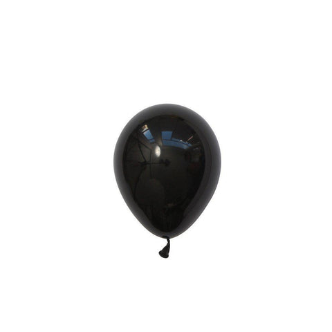 "5"" Mini Balloons Black-Palm & Pine Party Co."
