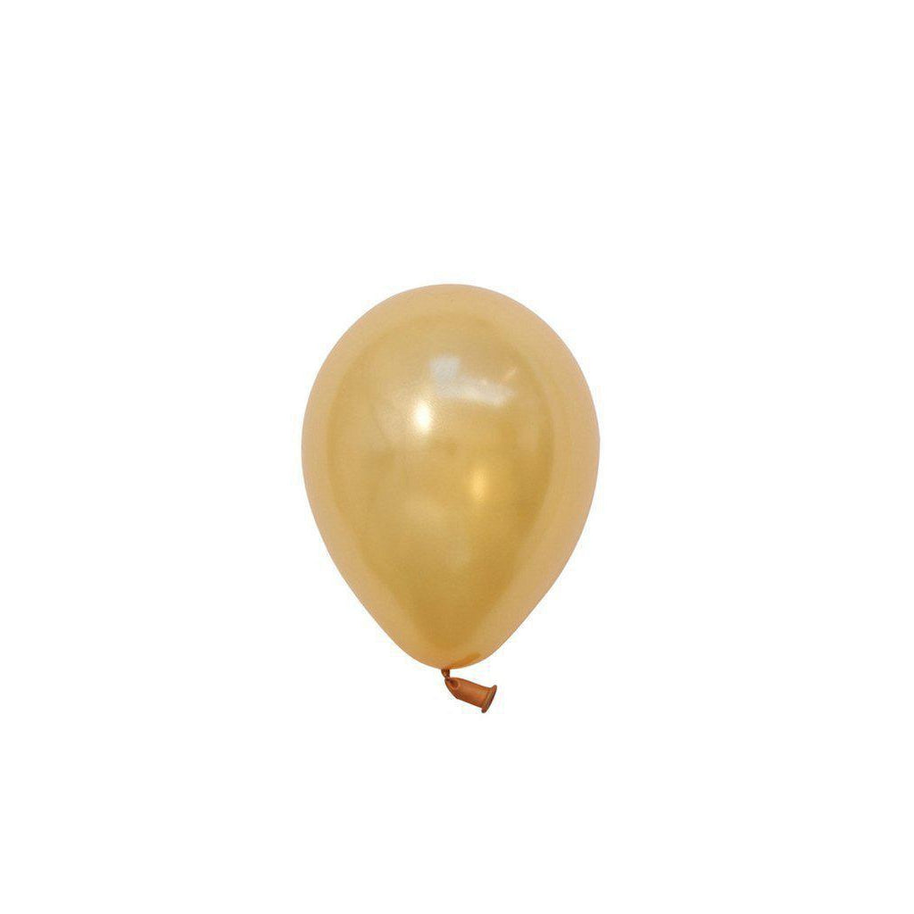 "5"" Mini Balloons Gold-Palm & Pine Party Co."