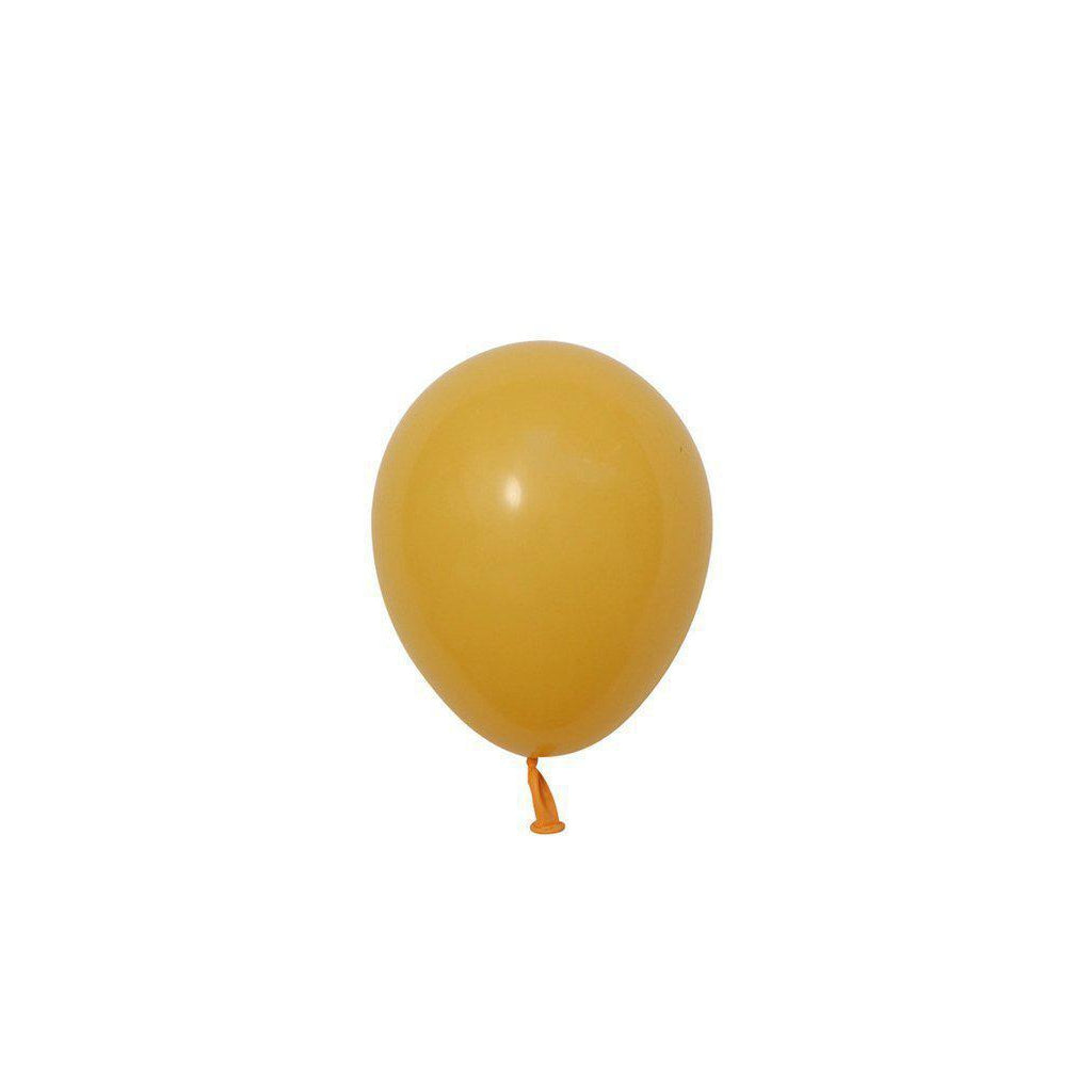 "5"" Mini Balloons Goldenrod-Palm & Pine Party Co."