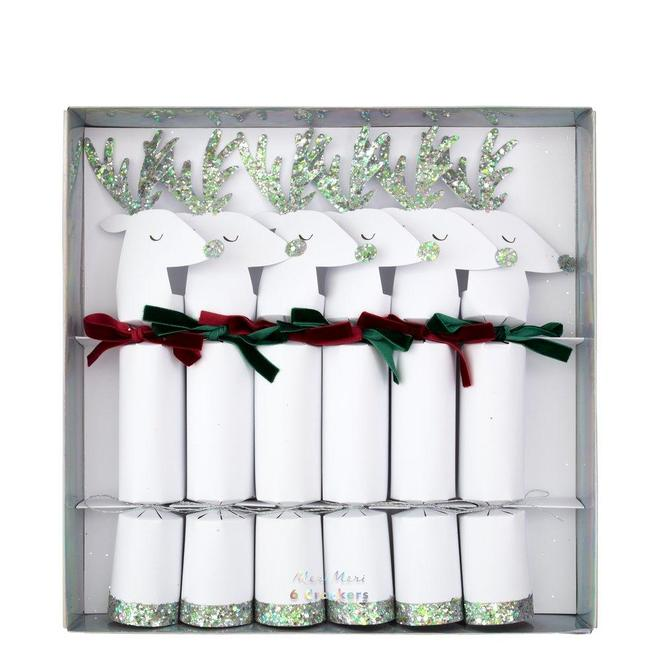 Silver Reindeer Crackers-Palm & Pine Party Co.