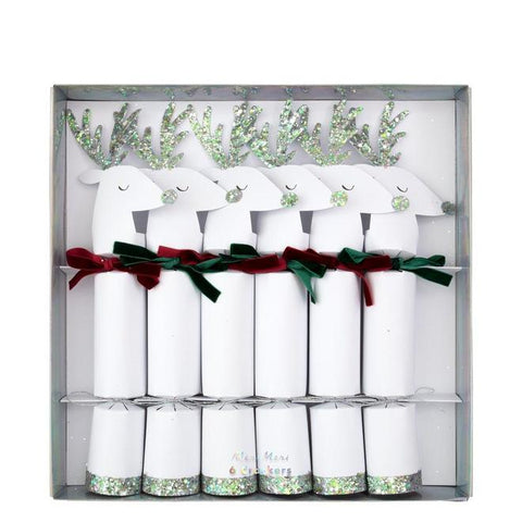 Silver Reindeer Crackers-Palm & Pine
