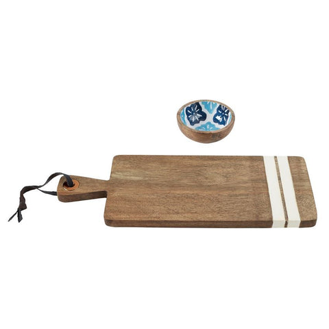 Portofino Board & Bowl Set-Palm & Pine