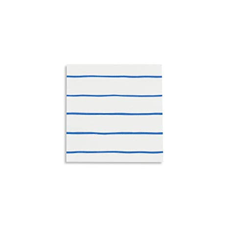 Blue Stripe Napkin (small)-Palm & Pine Party Co.