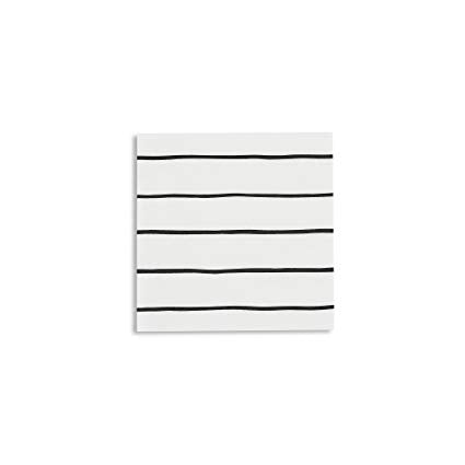 Black Stripe Napkin (small)-Palm & Pine Party Co.