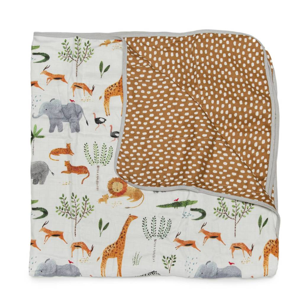 Muslin Quilt Blanket - Safari Jungle-Palm & Pine Party Co.
