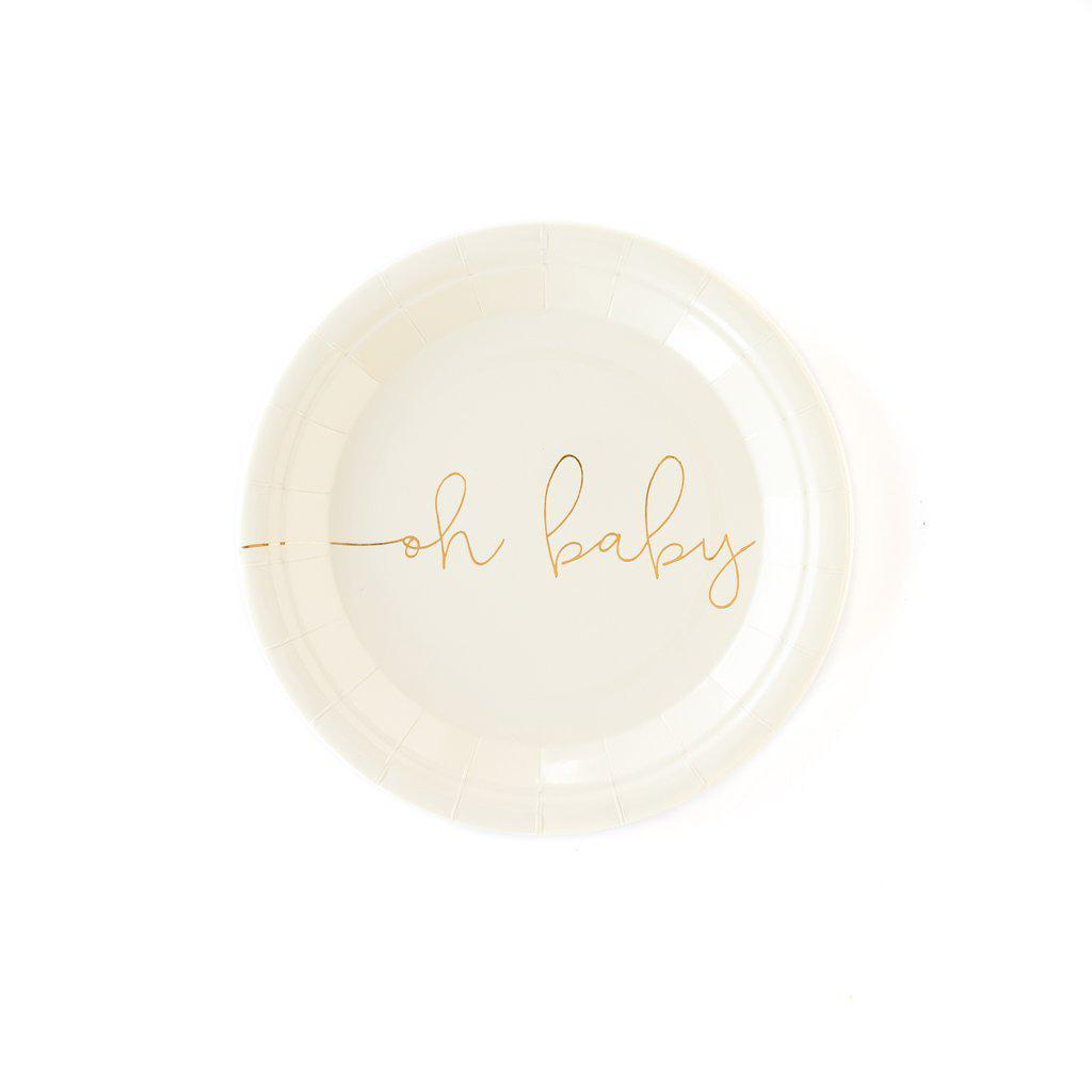 Oh Baby Plates-Palm & Pine Party Co.