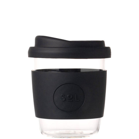 SoL 8oz Reusable Cup - Black-Palm & Pine