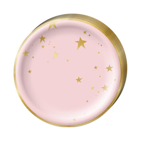 Pink Star Plates-Palm & Pine Party Co.