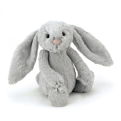 Jellycat Bashful Bunny Medium (Silver)-Palm & Pine Party Co.