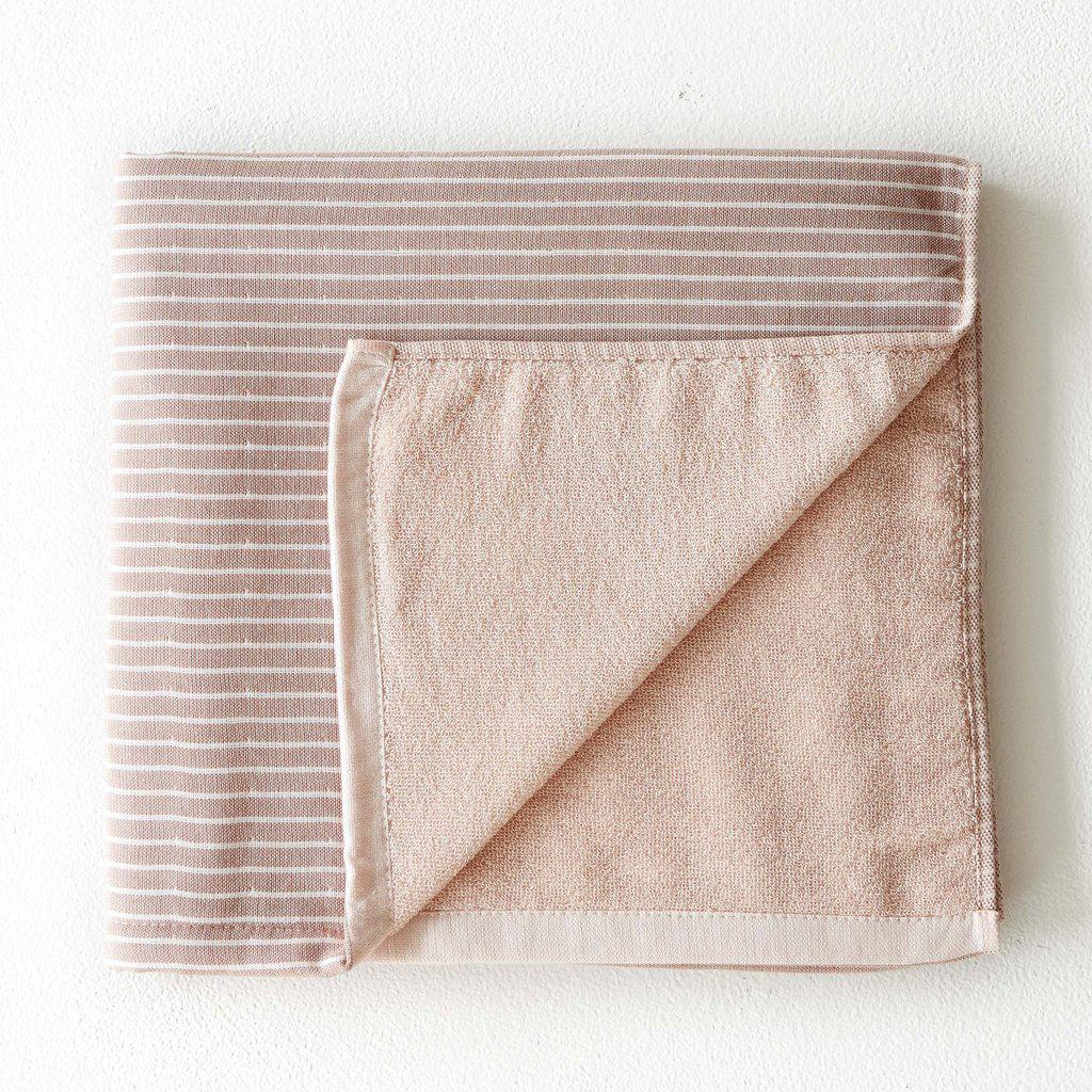 Striped Hand Towel - Salmon-Palm & Pine Party Co.