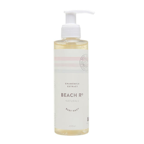 Chamomile & Rose Baby Wash (200ml)-Palm & Pine