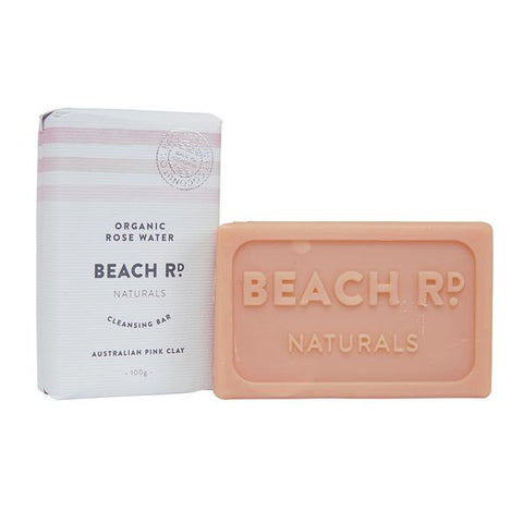 Organic Rosewater and Pink Clay Body Bar (100g)-Palm & Pine