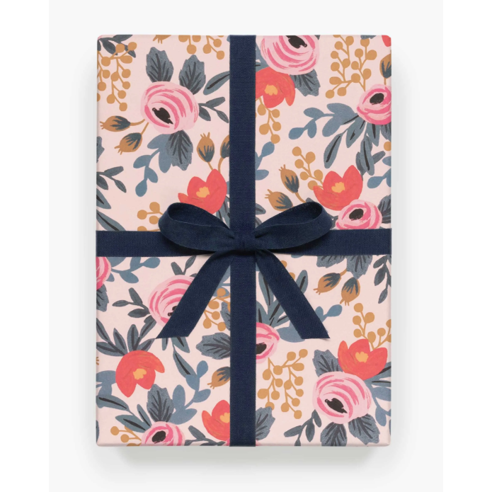 Blushing Rose Gift Wrap-Palm & Pine
