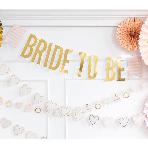 Bride to Be Banner-Palm & Pine