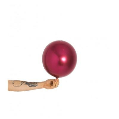 Orbz Balloon Burgundy (small)-Palm & Pine Party Co.