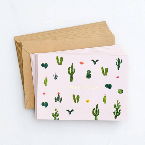 Cacti Thank You Card Set-Palm & Pine