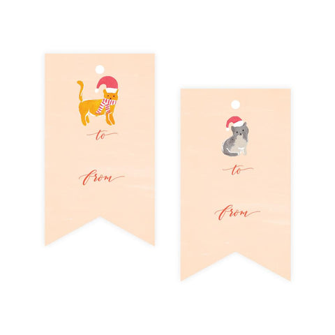 Christmas Cats Gift Tags-Palm & Pine
