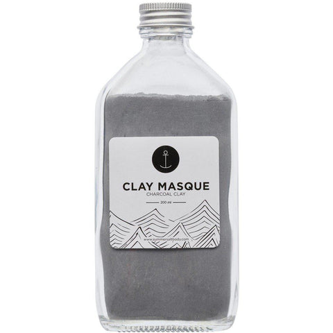 Charcoal Clay Masque (200g)-Palm & Pine