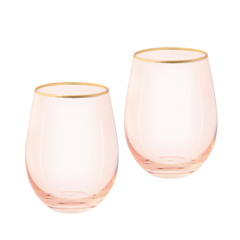 Rose Crystal Tumblers (set of 2)-Palm & Pine Party Co.