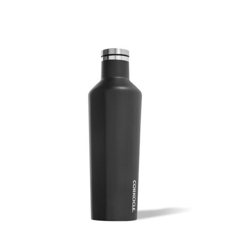 Corkcicle Canteen 16oz (Matte Black)-Palm & Pine Party Co.