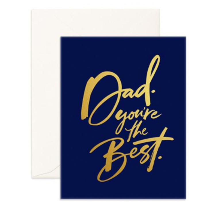 Dad You're the Best Card-Palm & Pine Party Co.