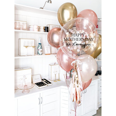 Personalised Mother's Day Balloon Bouquet-Palm & Pine