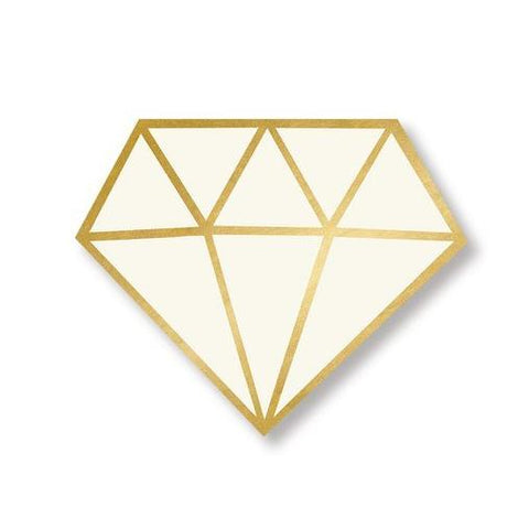 Diamond Die-Cut Napkins - Gold-Palm & Pine