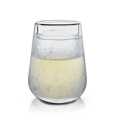 Glacier Double Walled Chilling Wine Glass-Palm & Pine