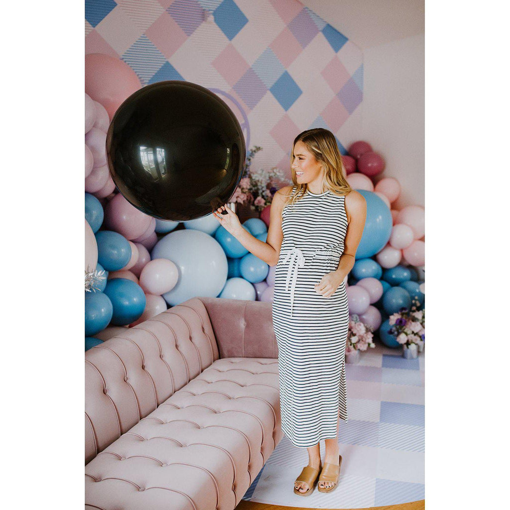 Gender Reveal Balloon 90cm (Blue Confetti)-Palm & Pine Party Co.