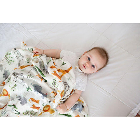 Muslin Swaddle - Safari-Palm & Pine Party Co.