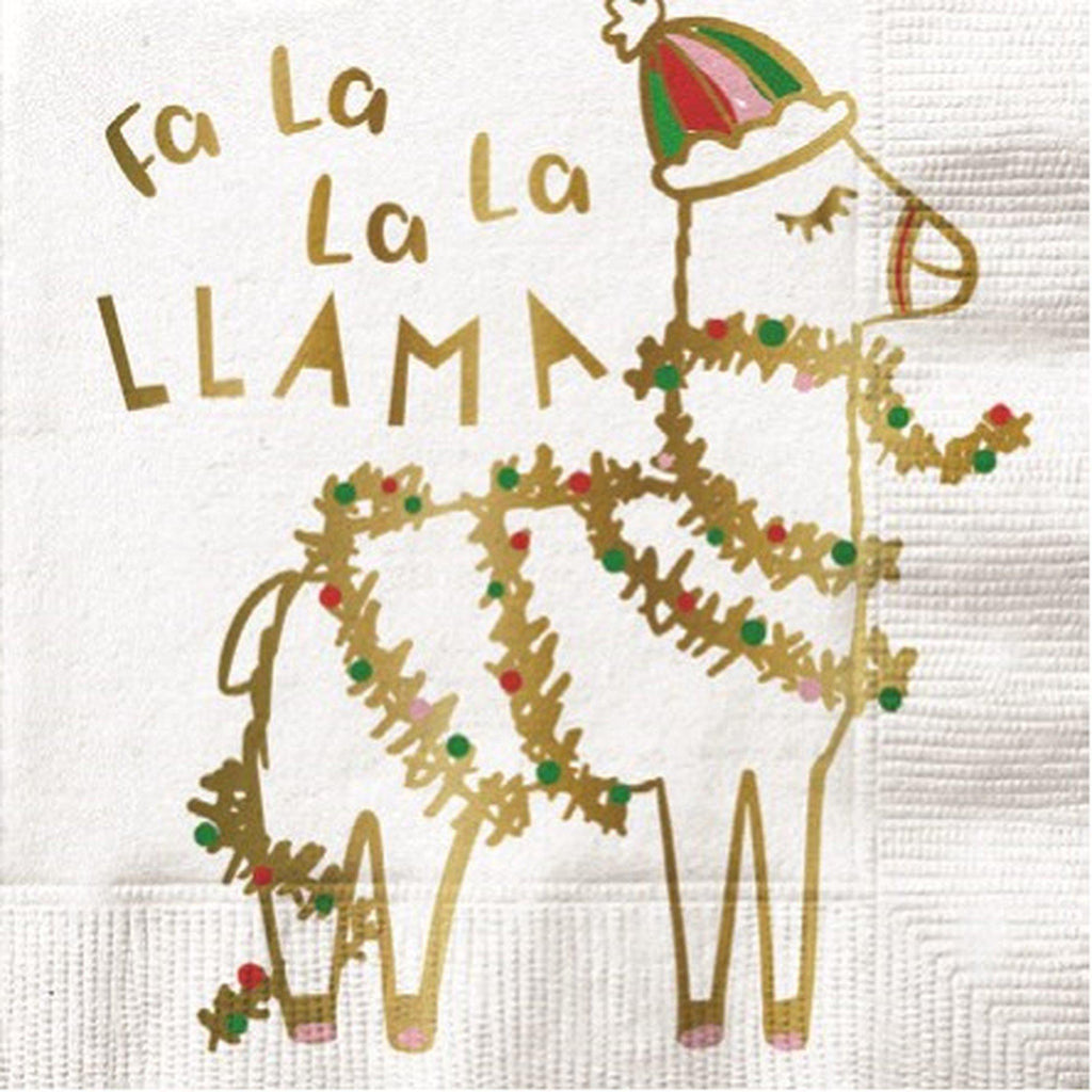 Fa La La La Llama Napkins-Palm & Pine Party Co.