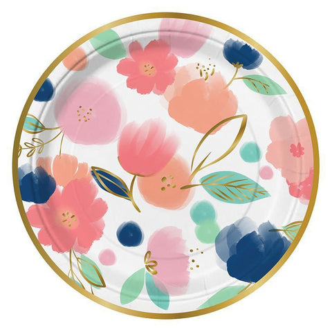 Floral Plates-Palm & Pine Party Co.