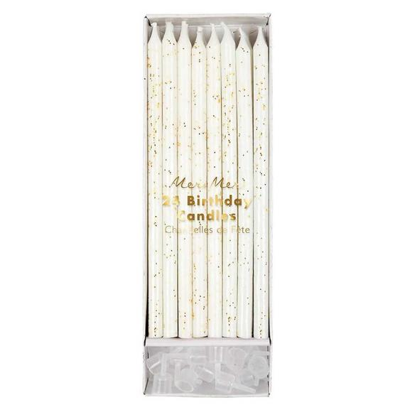Tall Birthday Candles (gold glitter)-Palm & Pine