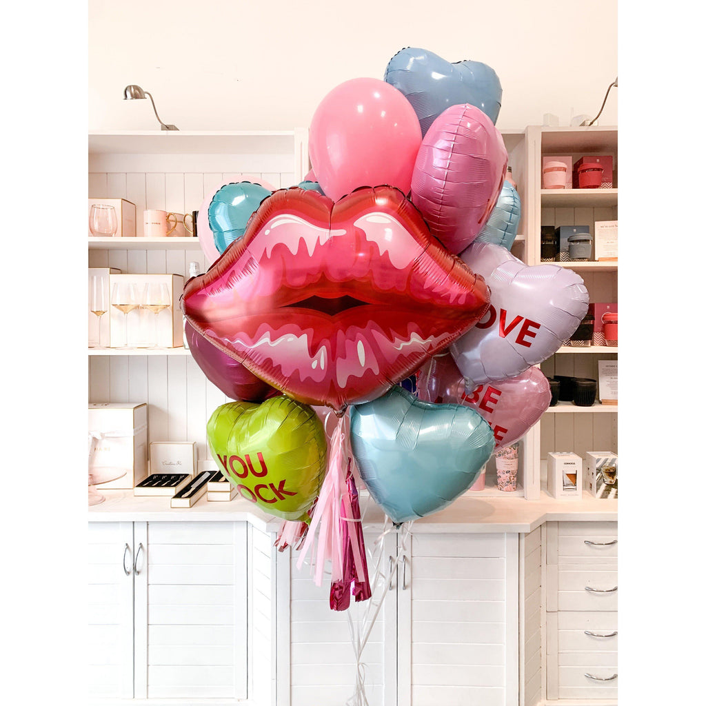 Valentines Day Premium Balloon Bouquet-Palm & Pine