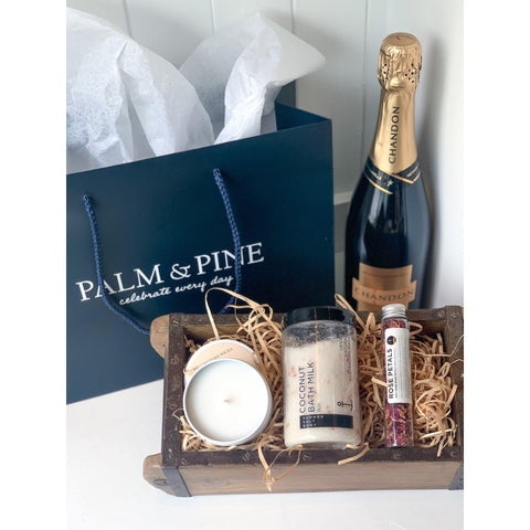 Relaxation Gift Basket-Palm & Pine